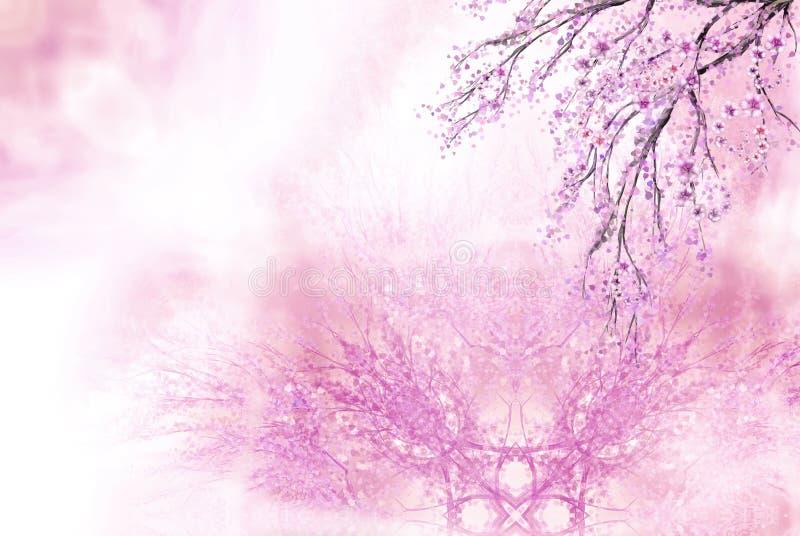Pink spring background stock illustration