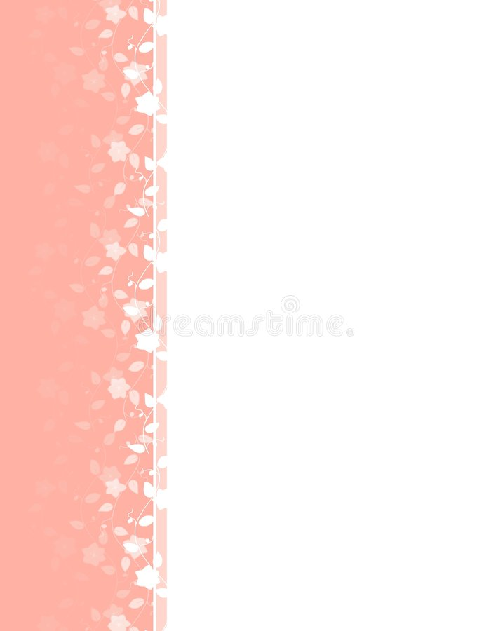 Download Pink Spring Flower Vine Left Border Stock Illustration - Image: 4008744