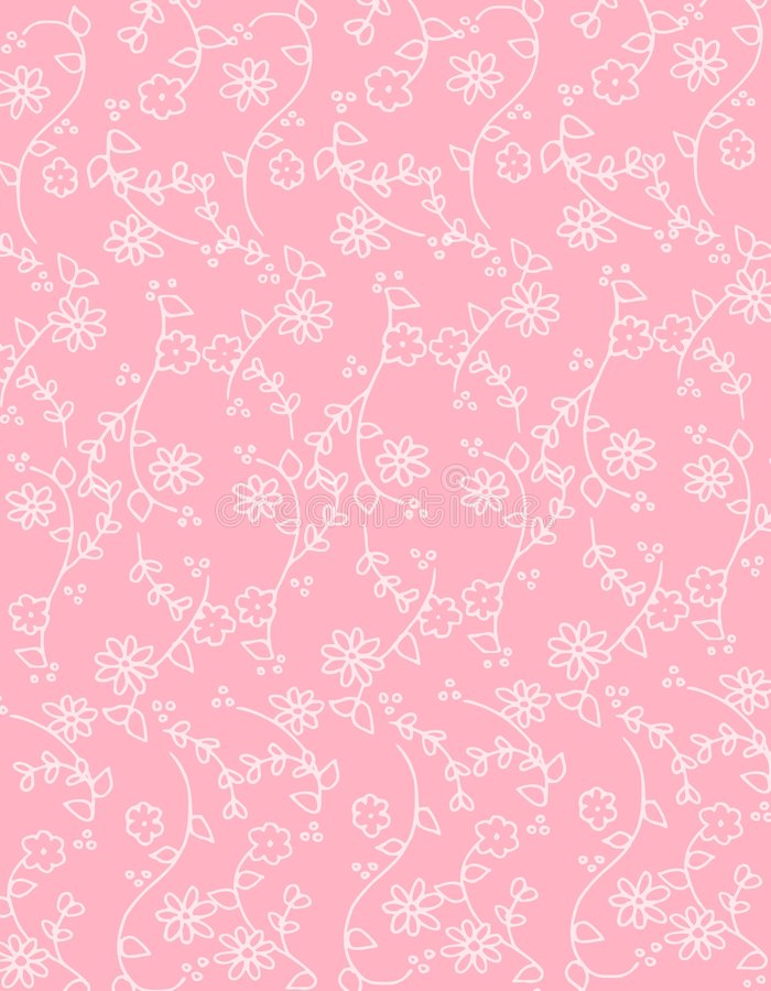 pink spring flowers background pattern stock illustration