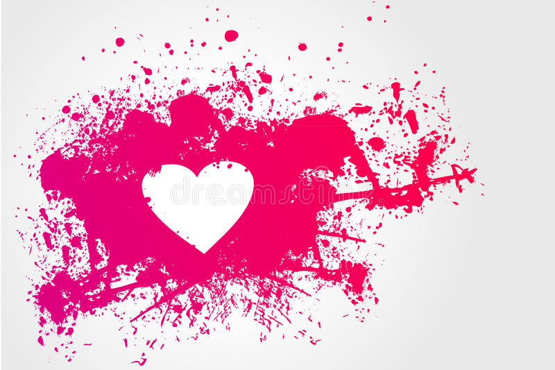 Download Pink Stain And Heart Royalty Free Stock Photos - Image: 18069418