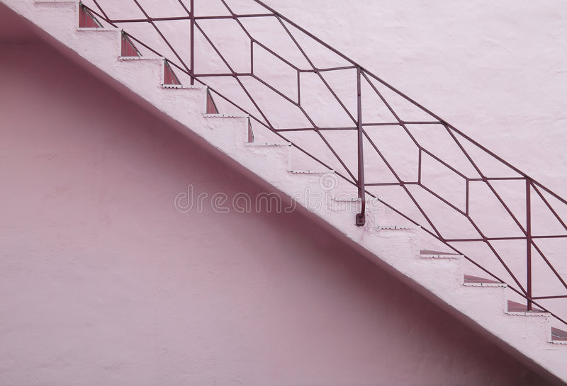 Pink Staircase royalty free stock images