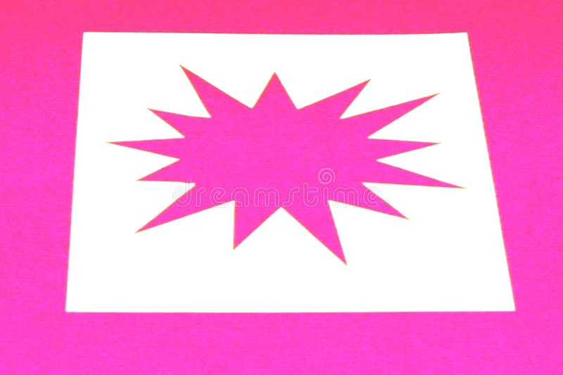 Pink star burst stock photography