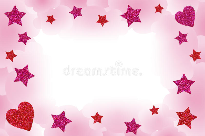 Pink Starry Frame stock image