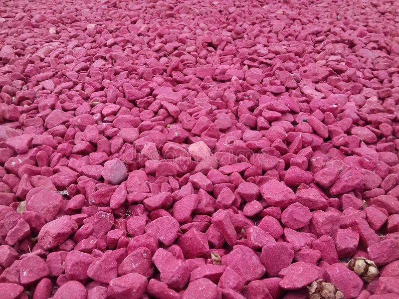 Pink stones. In the park royalty free stock images