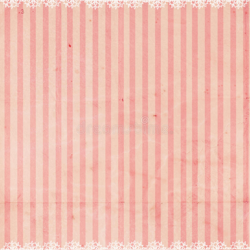 Download Pink Striped Background With Lace Trim Stock Illustration - Illustration of layer, flourish: 12350335