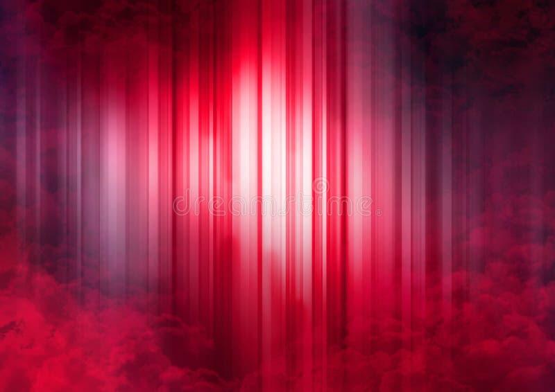 Pink Striped Spectrum stock illustration