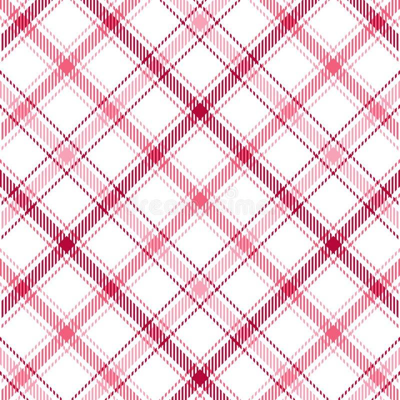 Pink Stripes Plaid vector illustration