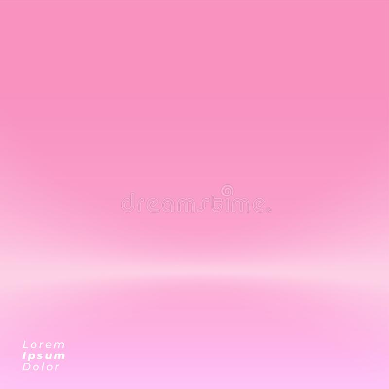 Pink studio background design mockup stock illustration