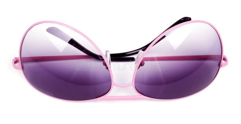 Pink sunglasses. Isolated on white background stock image