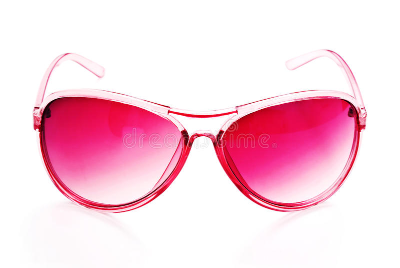 Pink sunglasses stock images