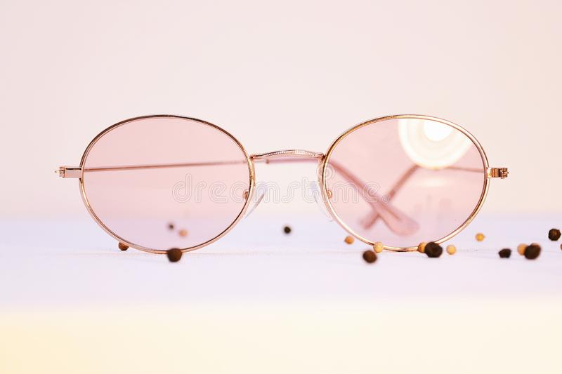 Free Public Domain Cc0 Image Pink Sunglasses With Gold Frames