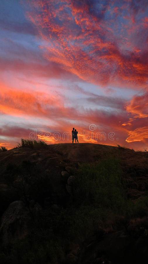 Pink Sunset stock photography