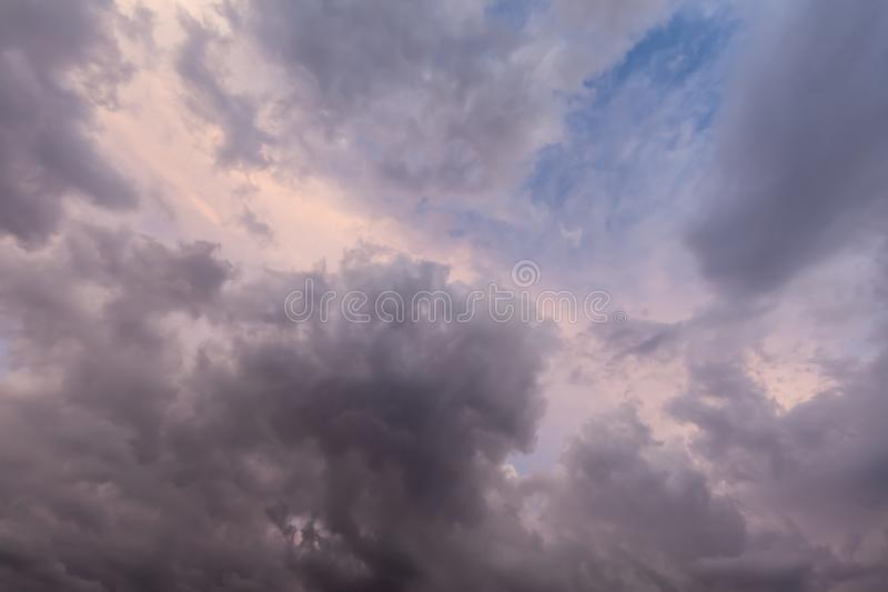Pink sunset sky with clouds 0659 royalty free stock photos
