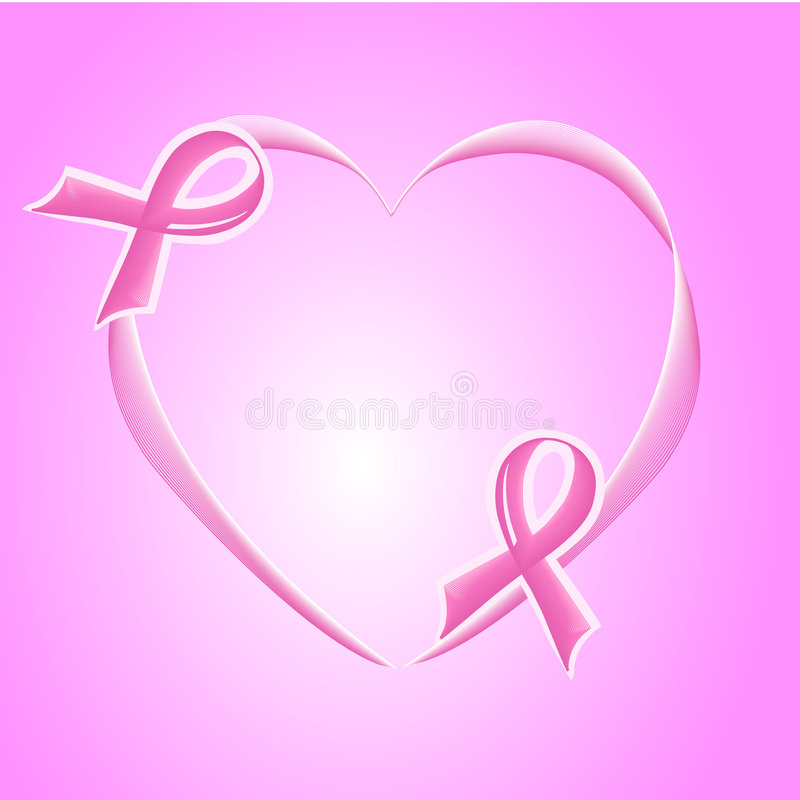 Pink Support Ribbon background royalty free stock photography