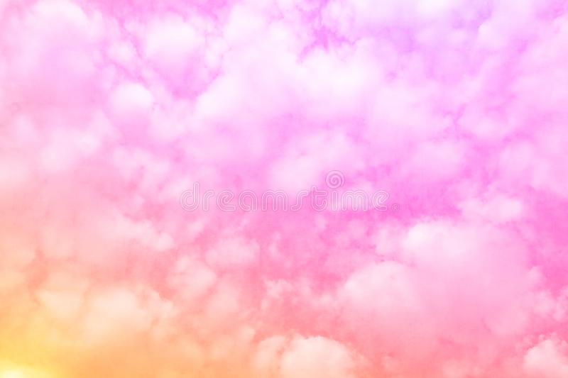 Pink sweet gradient sky cloud background. For art decoration wallpaper royalty free stock photos