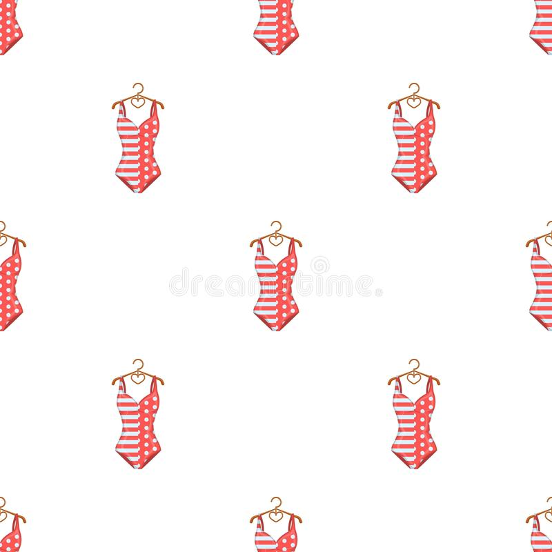 Pink swimsuit for the beach stripe and star.Swimming costume.Swimcuits single icon in cartoon style vector symbol stock vector illustration