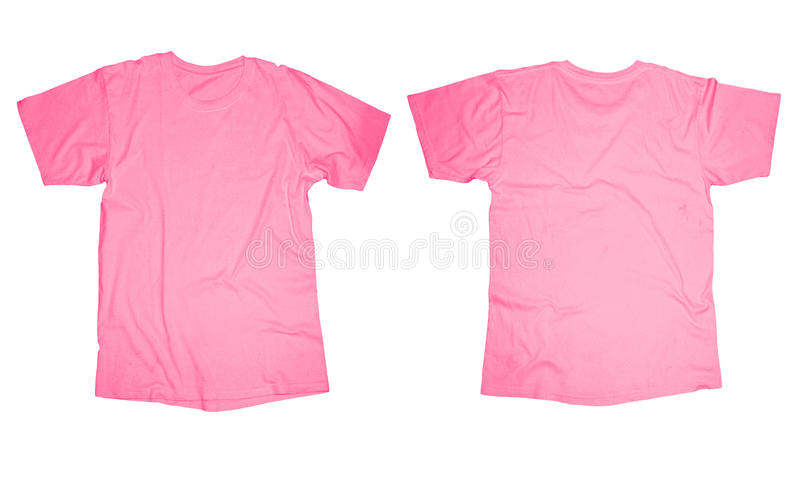pink tshirt template stock image image of picture