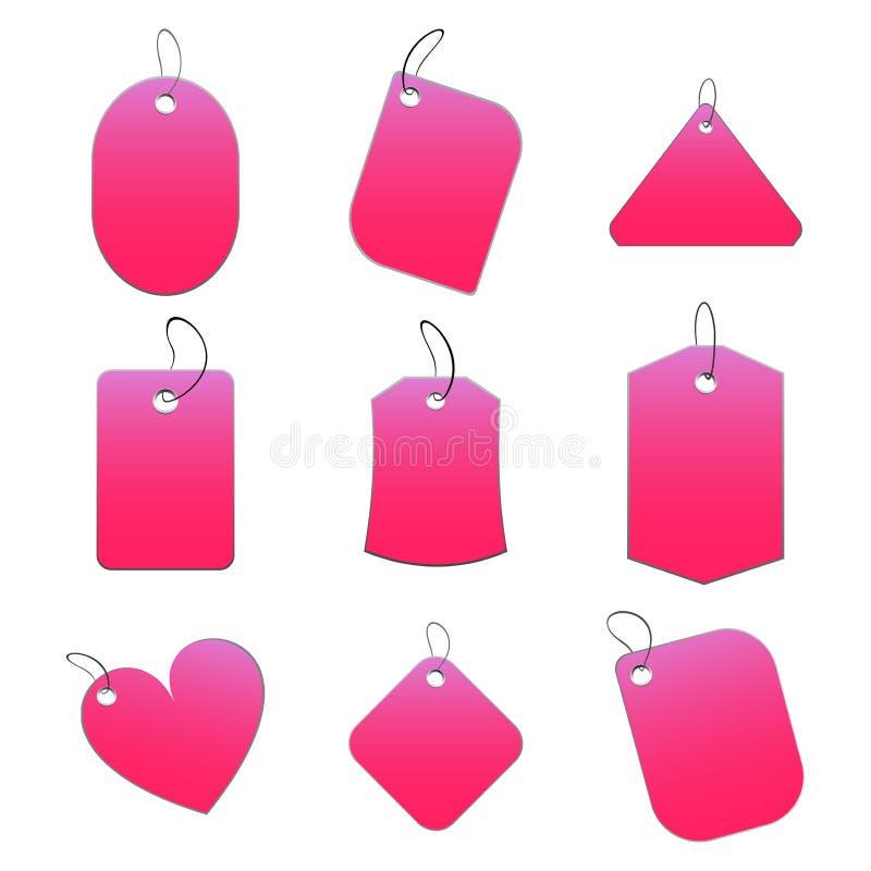 Pink tags stock illustration