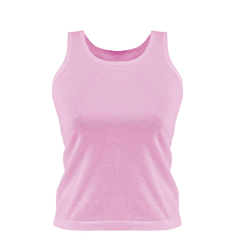 Pink tank top. Isolated on the white background stock photo