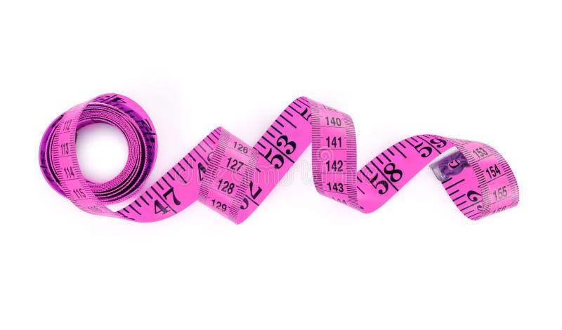 Pink tape measure stock photo