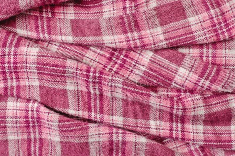 Pink Tartan Cloth Royalty Free Stock Photo