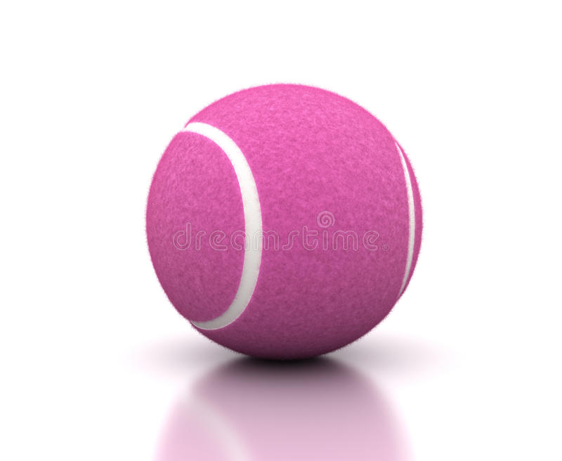 Pink Tennis Ball royalty free stock photography