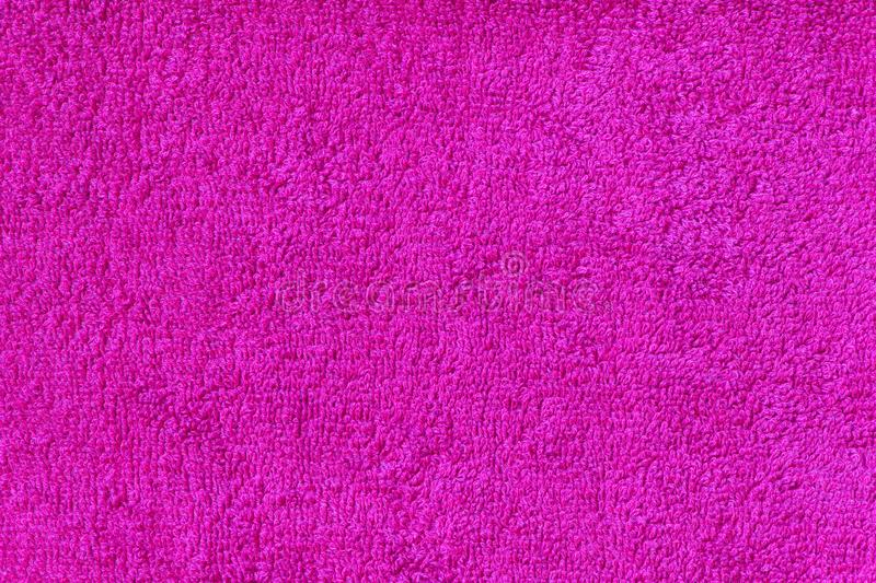 Pink terry towel background stock photo