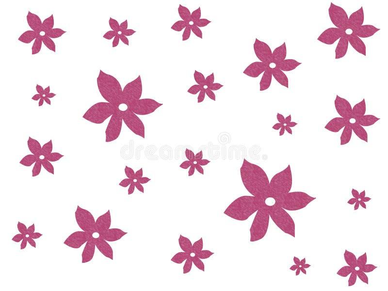 Pink textured flowers vector illustration