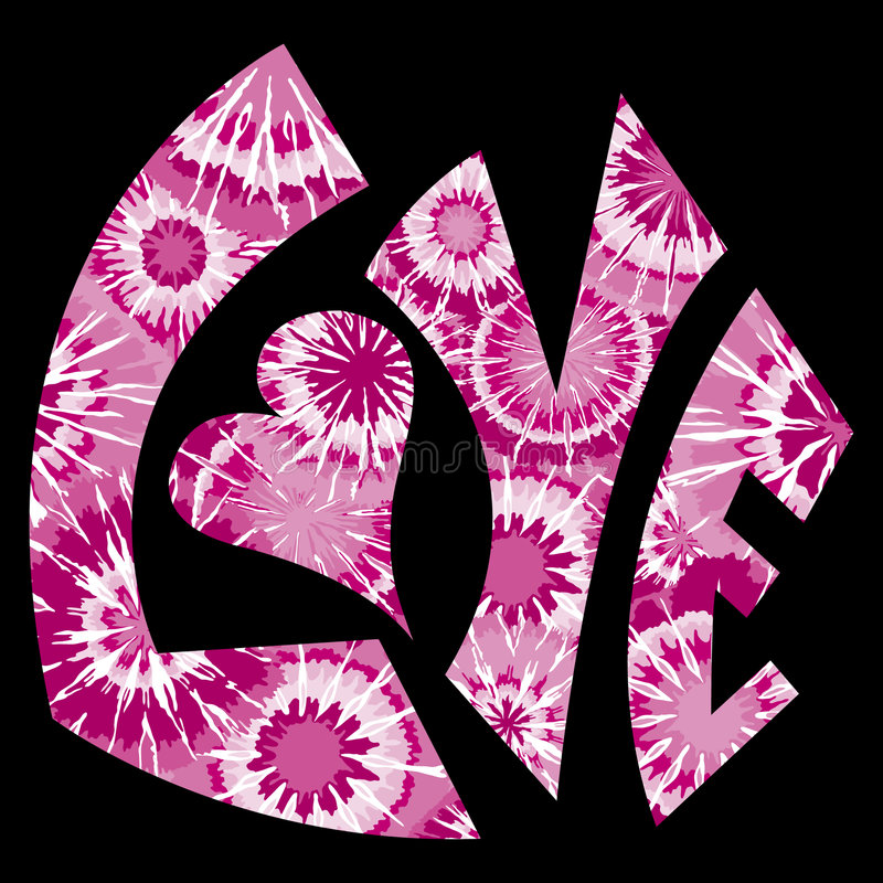Pink Tie Dyed Love Symbol royalty free stock image