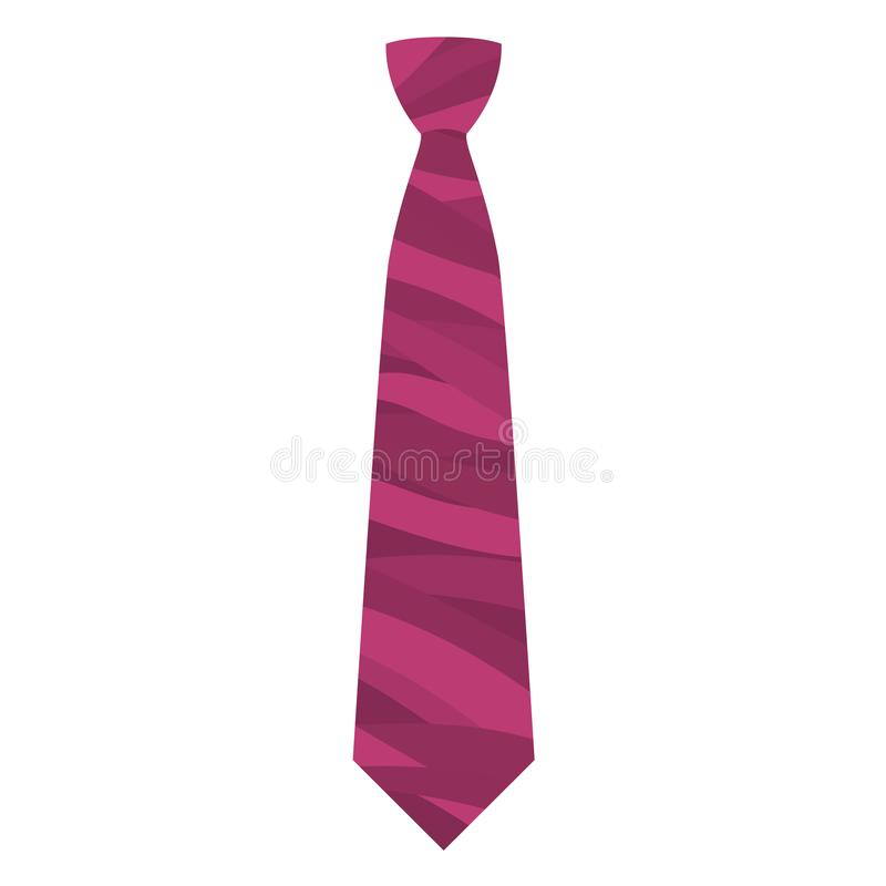 Pink tie icon, flat style. Pink tie icon. Flat illustration of pink tie vector icon for web design vector illustration