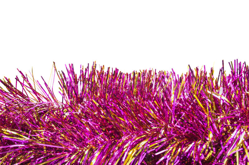 Pink tinsel stock photo image of shine decor december