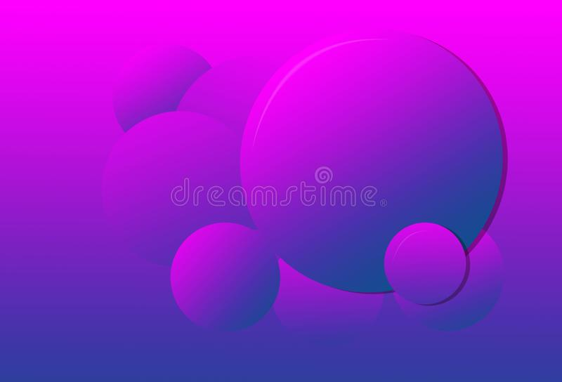 Pink to purple gradientcolor  circles background vector illustration