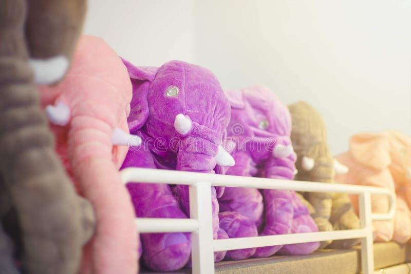 Pink toy elephant. stock image