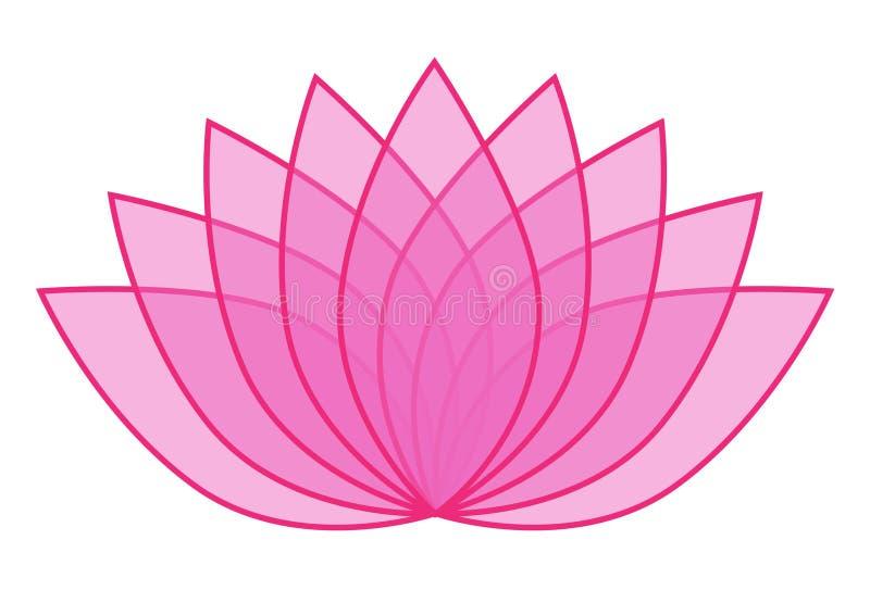 pink transparent lotus flower icon logo on white background rh dreamstime com