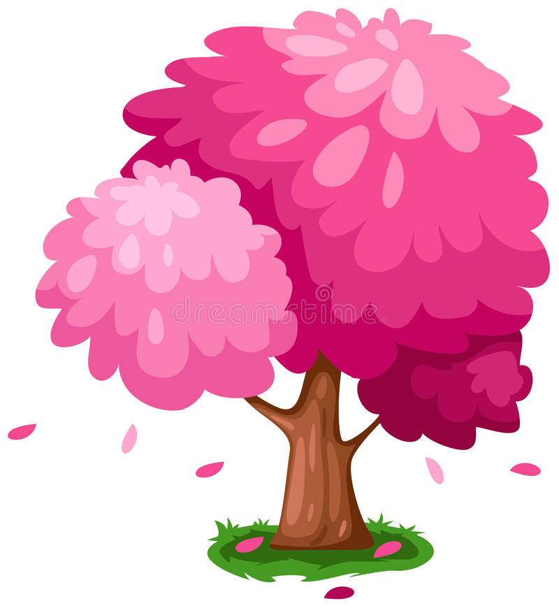 Download Pink tree stock vector. Illustration of forest, autumn - 15858634