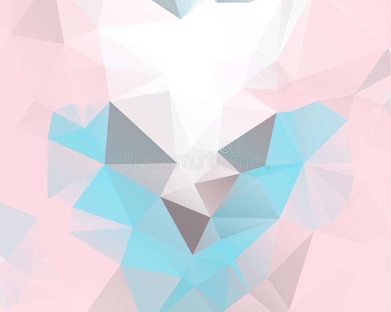 Download Pink Triangle Background Design Geometric In Origami Stock Illustration