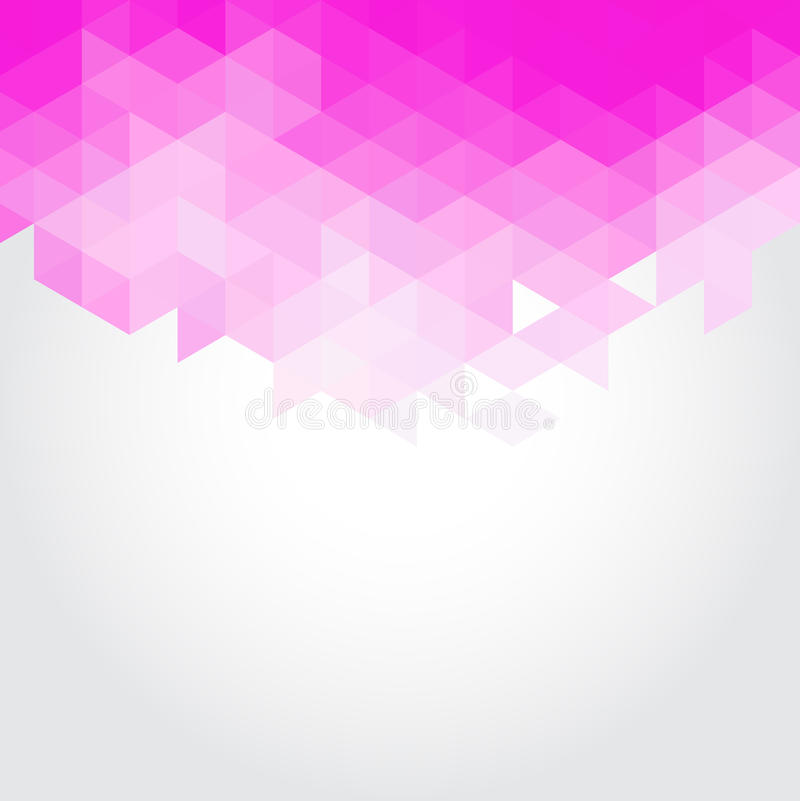 Abstract pink triangles geometry vector background vector illustration