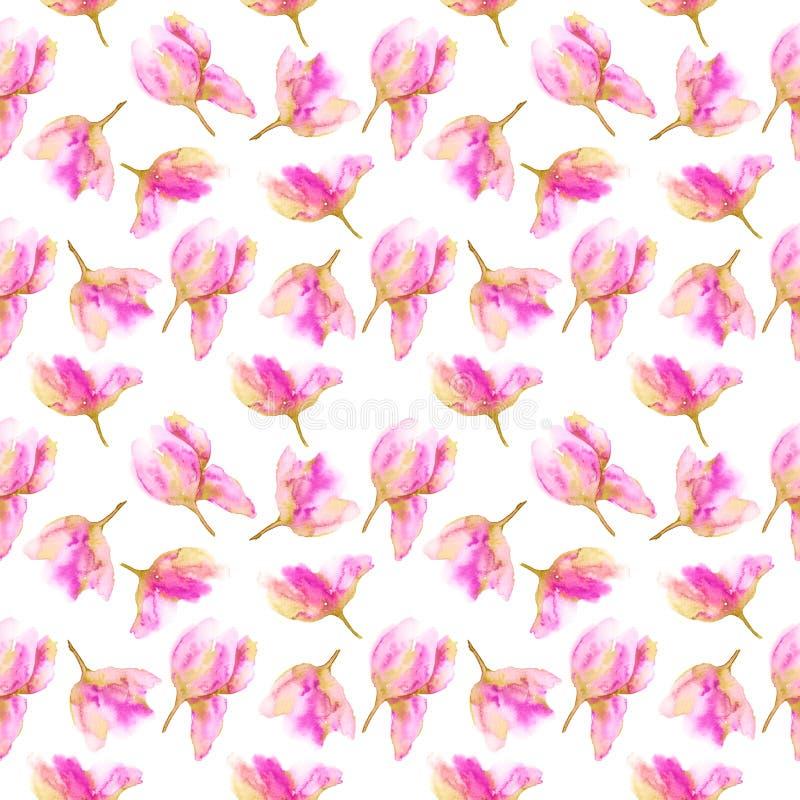 Seamless floral pattern. Pink flowers seamless background. Floral textile pattern. Wedding floral design. royalty free illustration