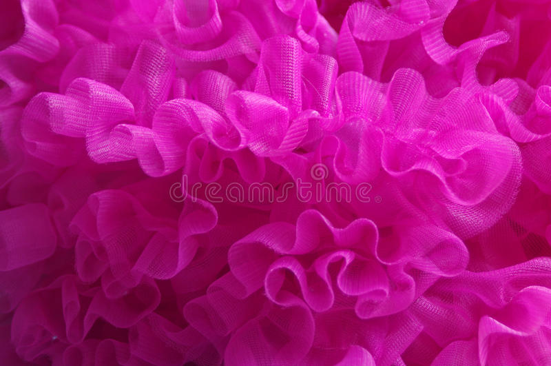 Pink tulle stock photo