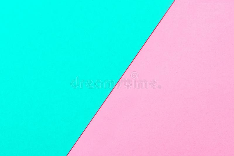 Pink and turquoise color paper texture background. Trend colors, geometric paper background. Colorful of soft paper background. royalty free stock images