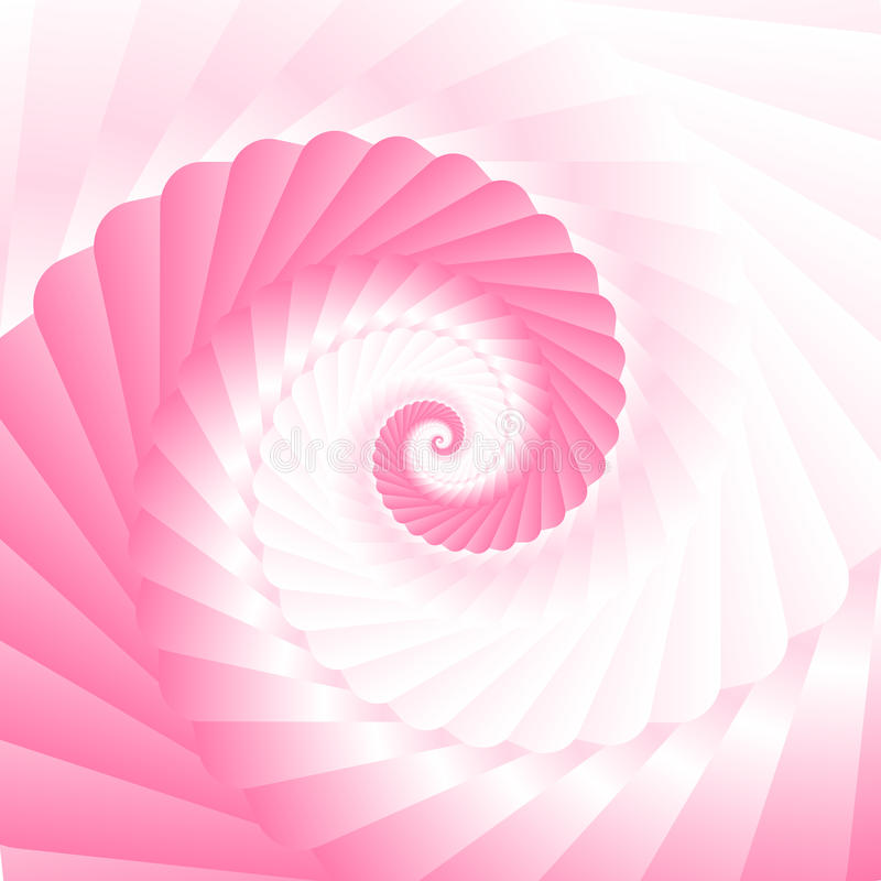 Pink twirl. Double colored twirl - white and pink. Abstract vector background vector illustration
