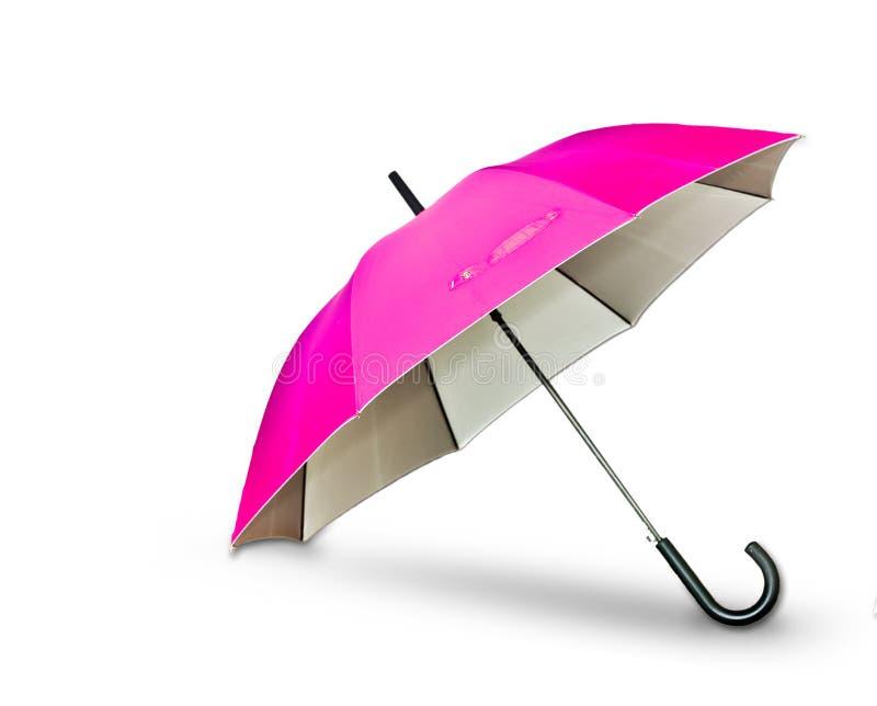 Pink umbrella. On white background royalty free stock photo