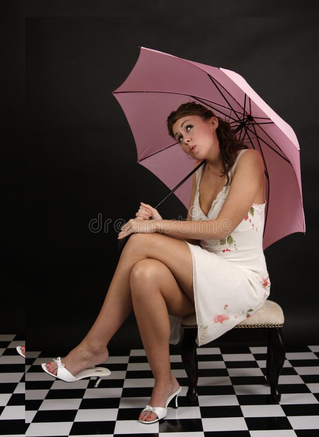 Pink Umbrella Stock Photos