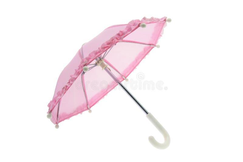 Pink Umbrella. On Isolated White Background royalty free stock photos