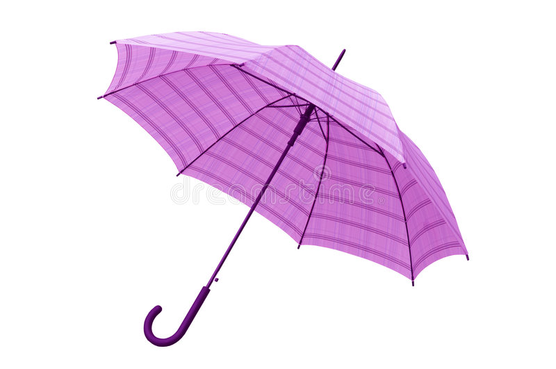 Pink Umbrella with Clipping Path. Pink umbrella isolated on white background with a clipping path stock photos