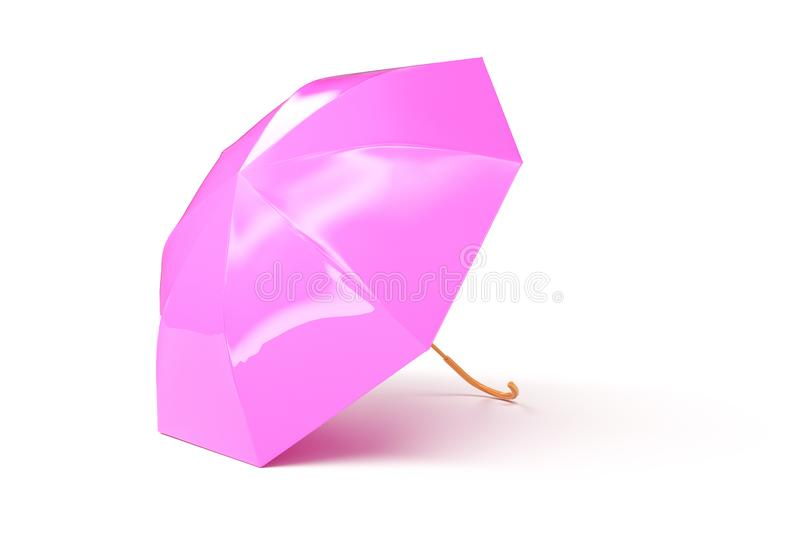 Pink umbrella concept rendered isolated 3d render vector illustration
