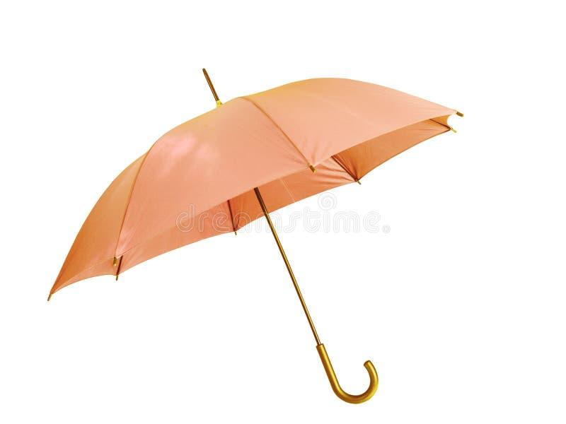 Pink umbrella. Isolated on white background royalty free stock images