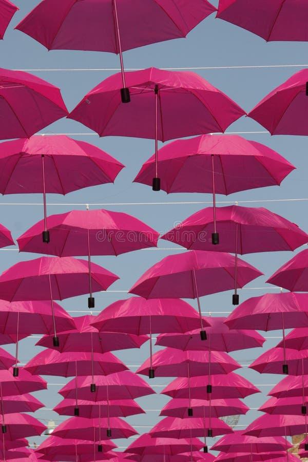 Pink Umbrellas Royalty Free Stock Photo