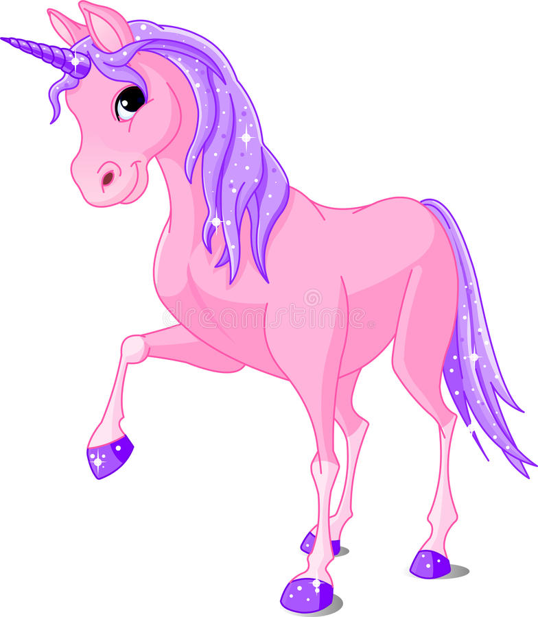 Pink Unicorn. Vector Illustration of beautiful pink Unicorn