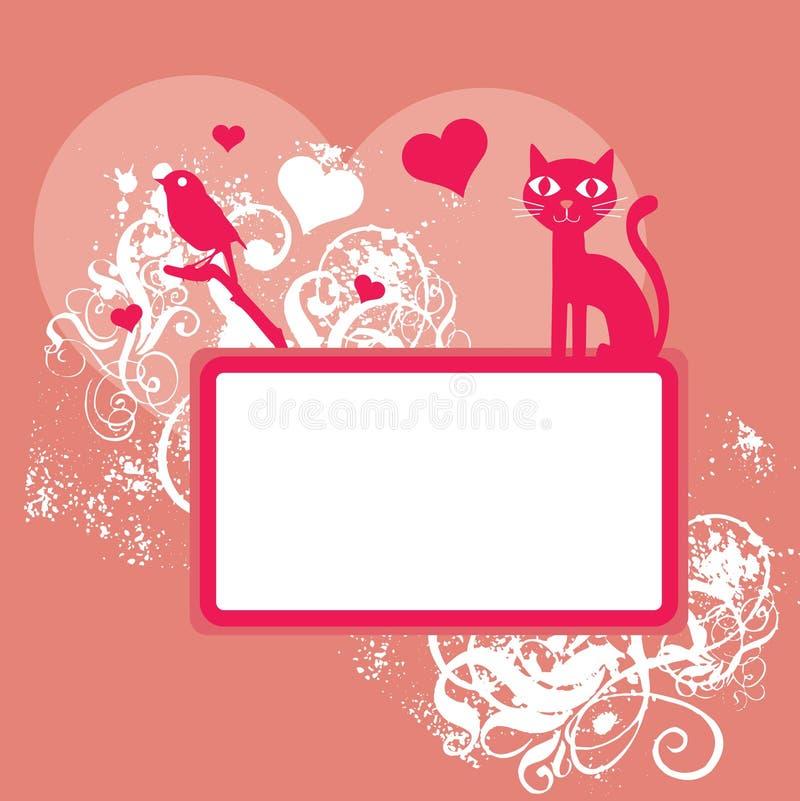 Pink Valentine background vector illustration